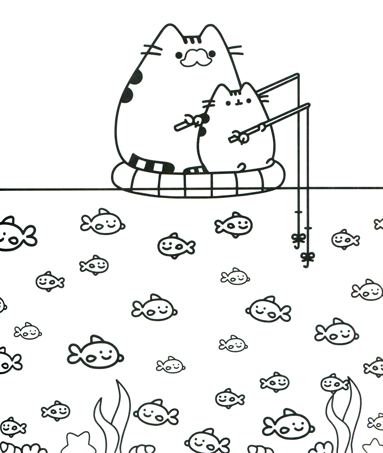 Coloring Pages : Coloring Pages Marvelous Pusheen Cat ...