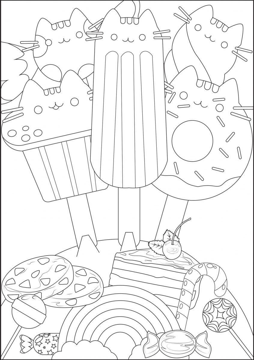 Best Coloring: Pusheen Coloring Pages Three Little Pigs ...
