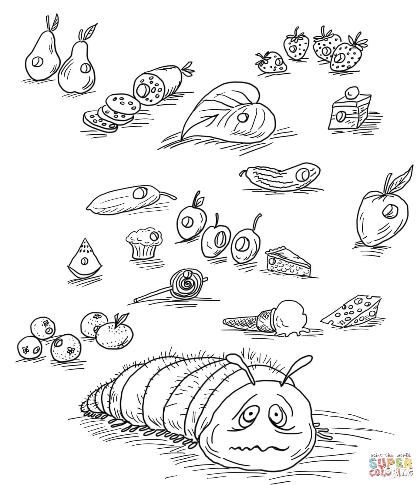 Very Hungry Caterpillar coloring page | Free Printable Coloring Pages