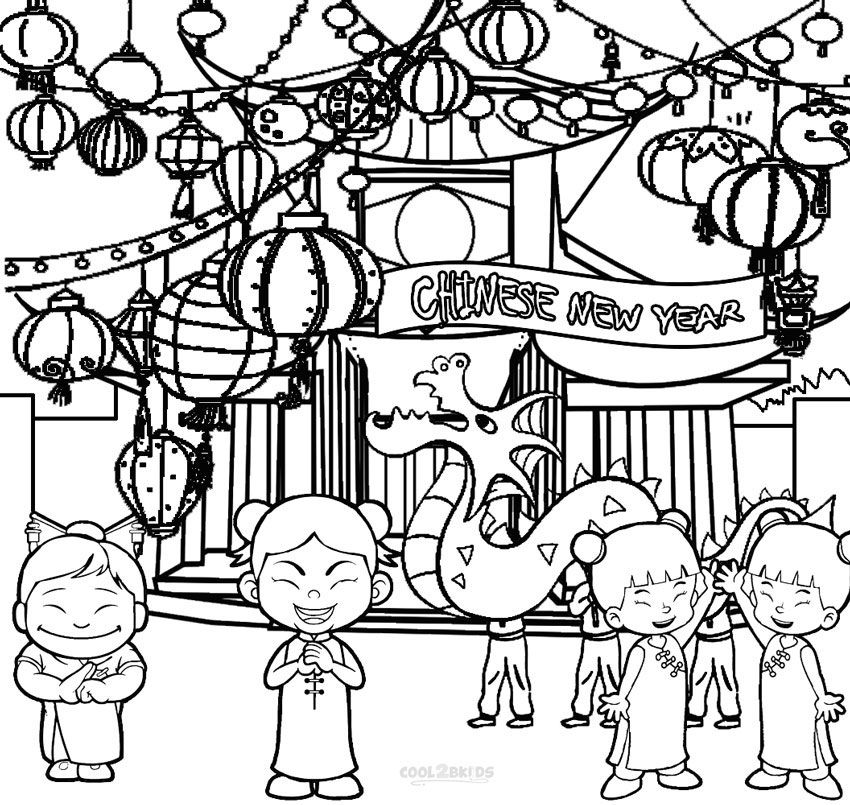 coloring pages chinese new year - photo#27