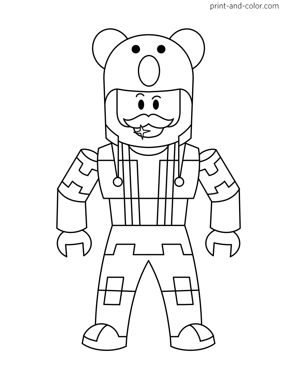Roblox Coloring Pages Coloring Home