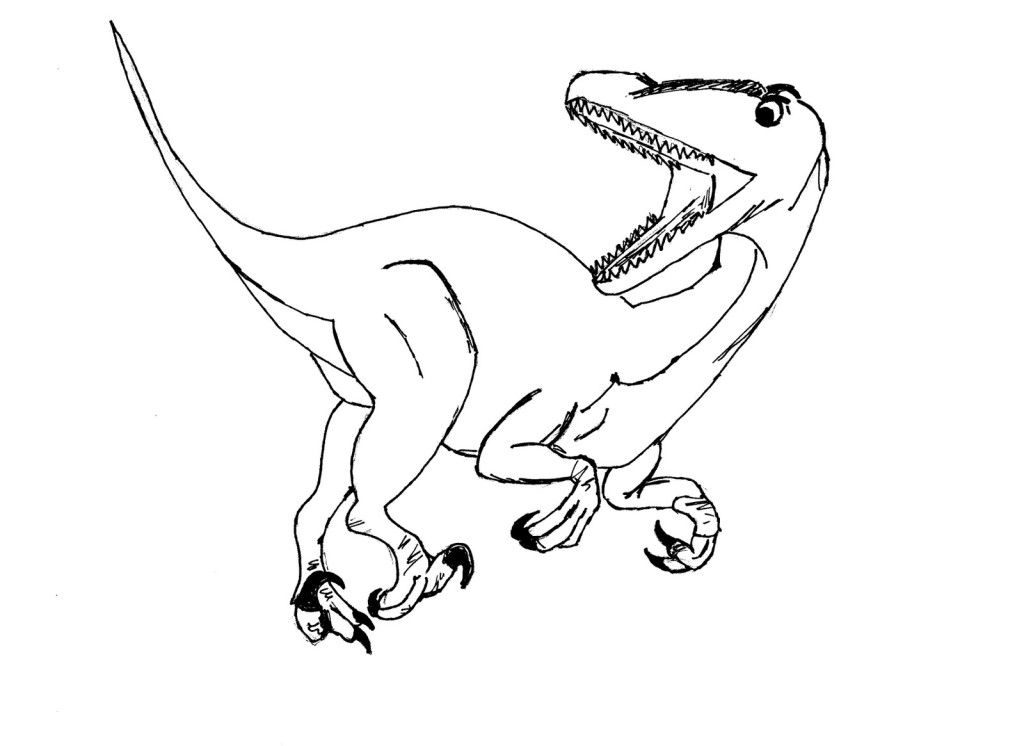 velociraptor coloring pages for kids - photo#21