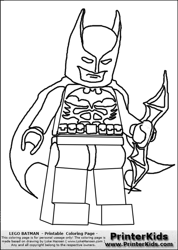 Lego Batman Coloring Pages - Printable Free Coloring Pages