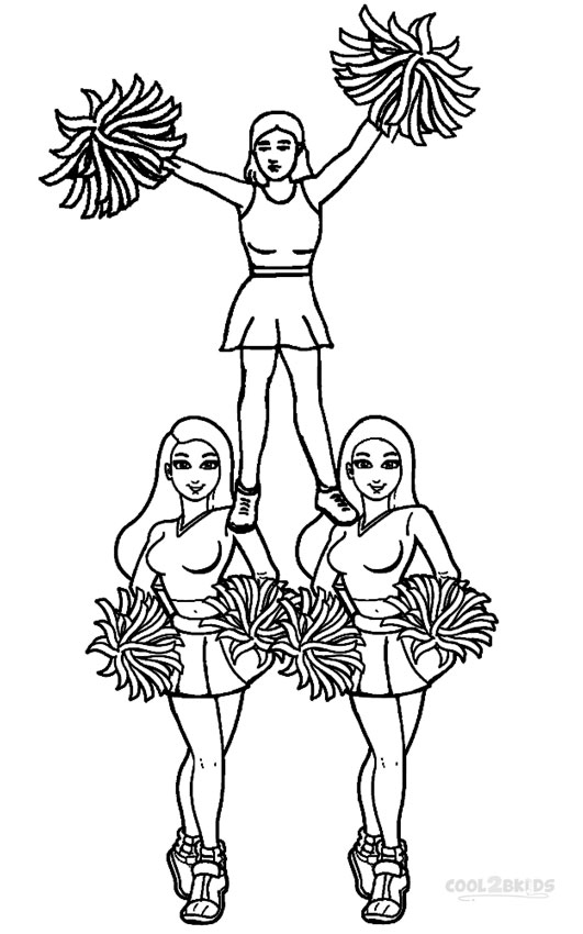 Cheerleaders Coloring Pages - Coloring Home