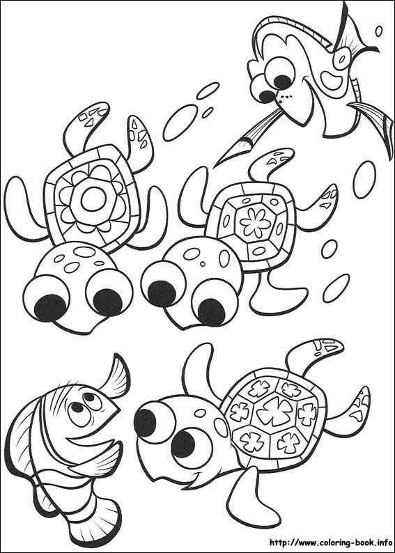Finding Nemo coloring pages on Coloring-Book.info