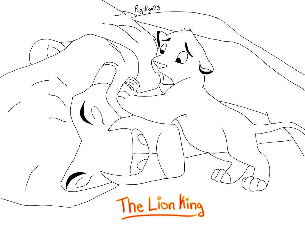 cute lion king coloring mufasa