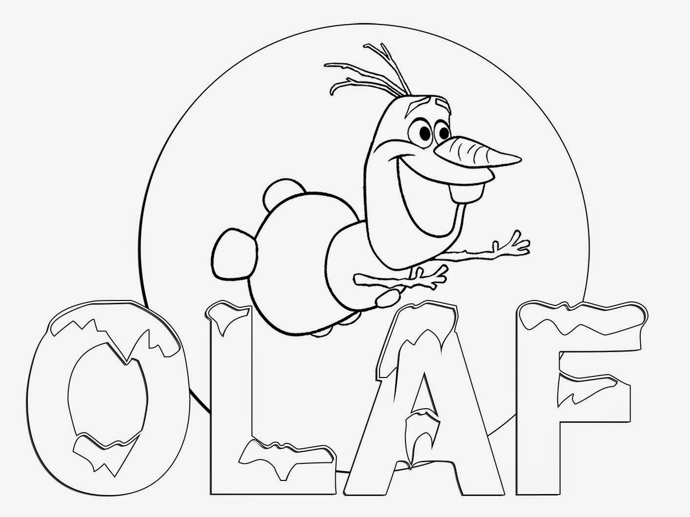 Printable Disney Cartoon Olaf flying | Coloring Pages PDF
