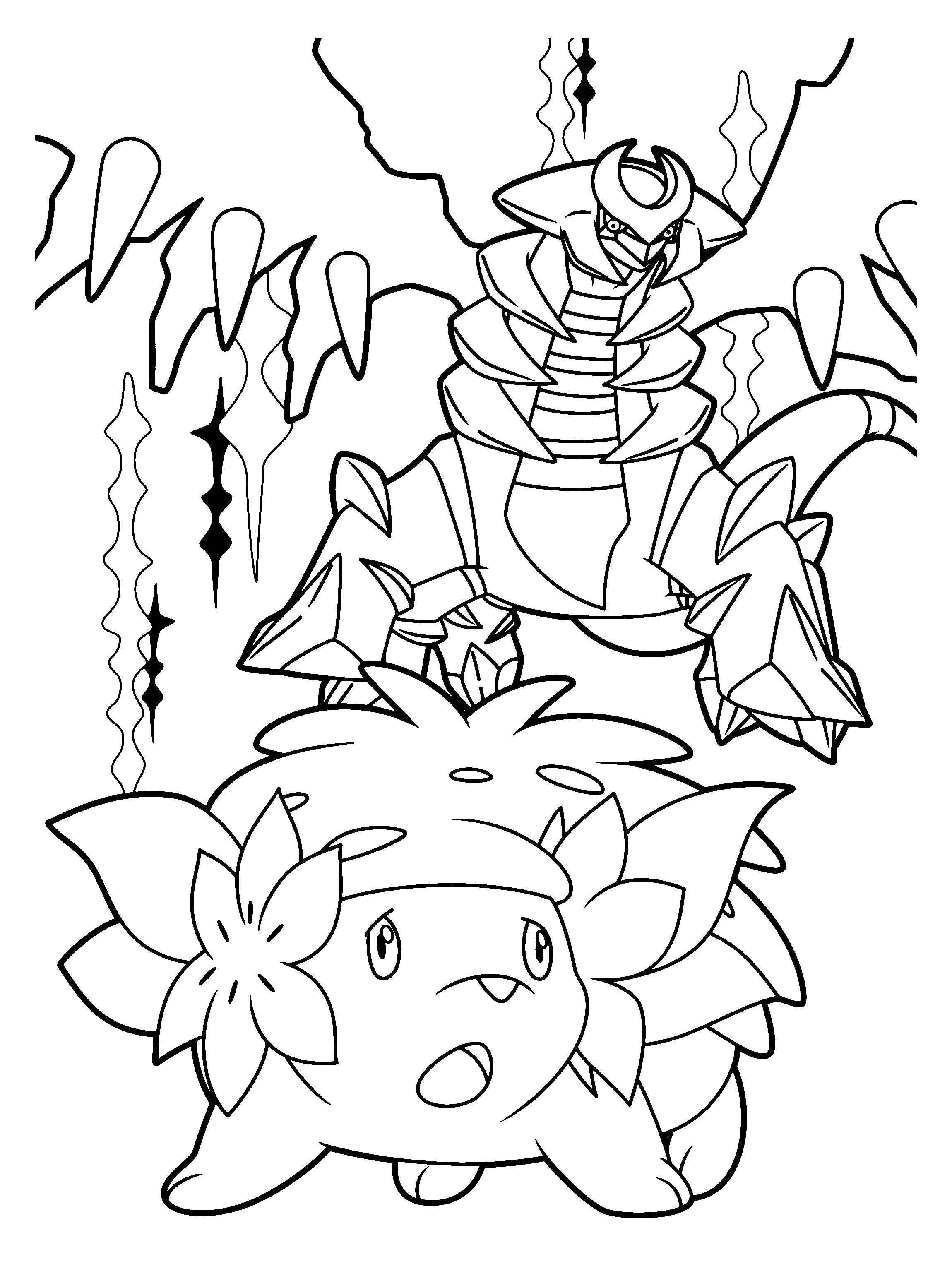 coloring pages giratina - photo#16