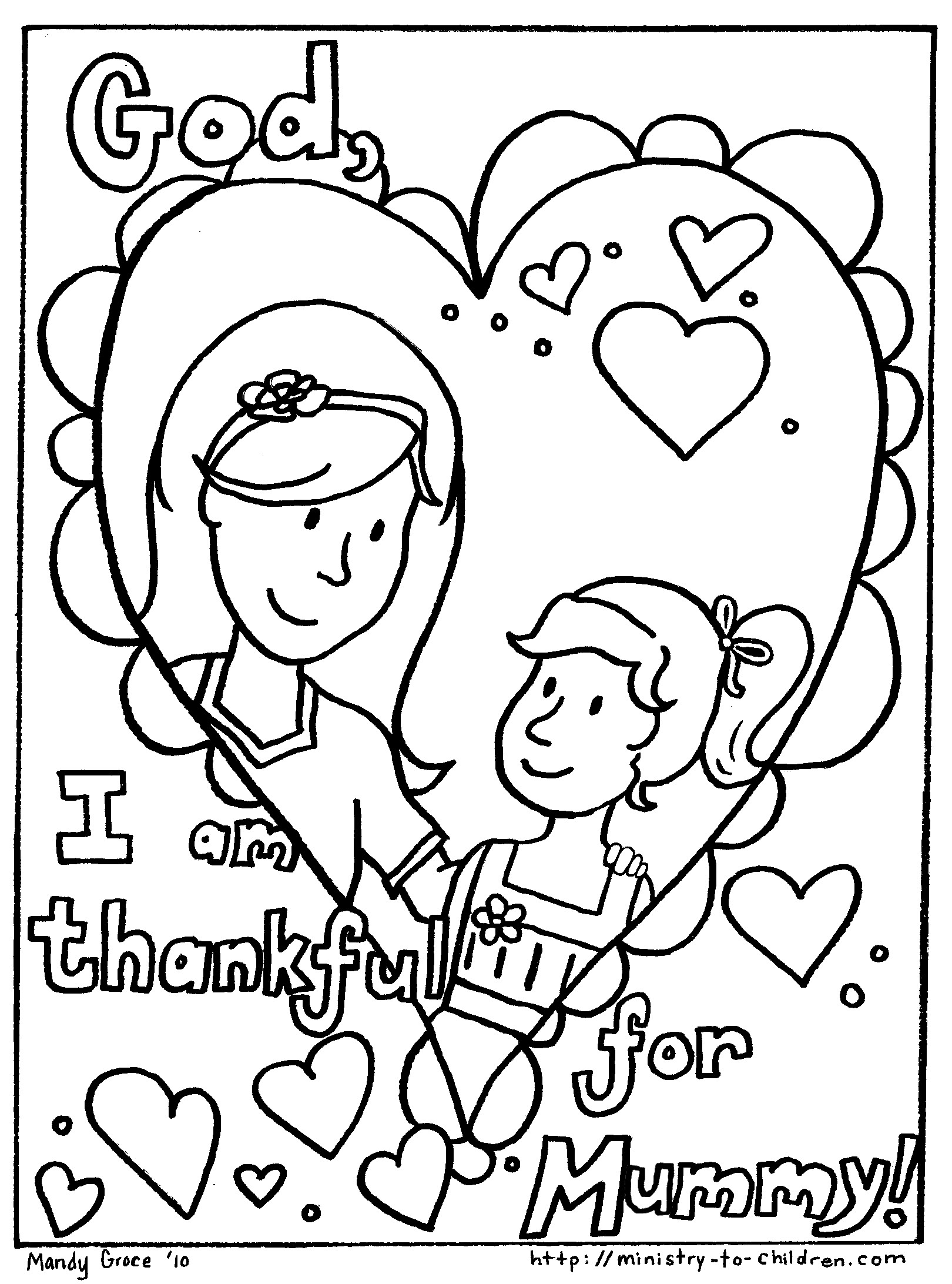 mom birthday coloring pages - photo#29