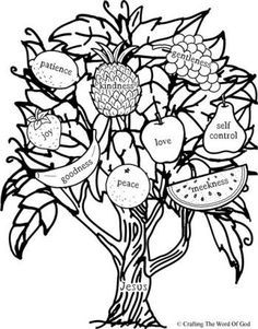 Fruit Of The Spirit - Coloring Pages for Kids and for Adults