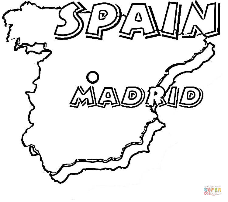 - Kids Coloring Page For Spain - Coloring Home