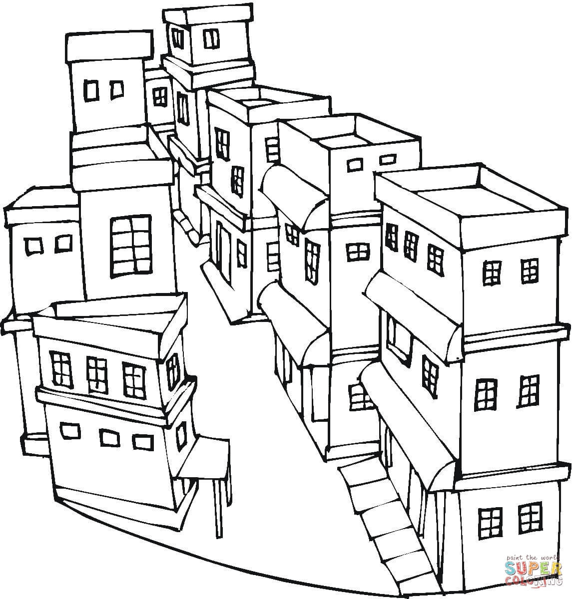 neighborhood coloring page coloring home