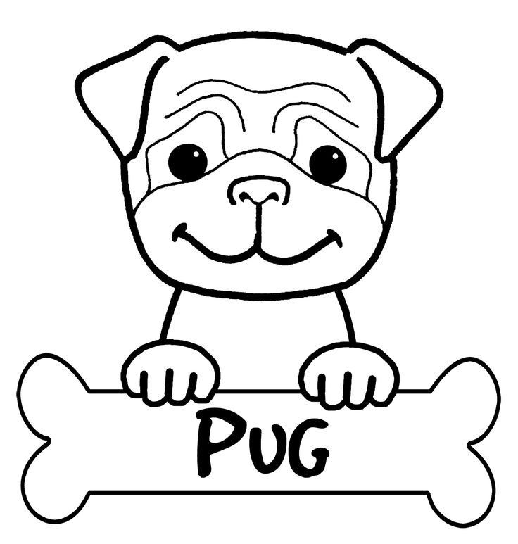 Pug Coloring Pages Printable - Coloring Home