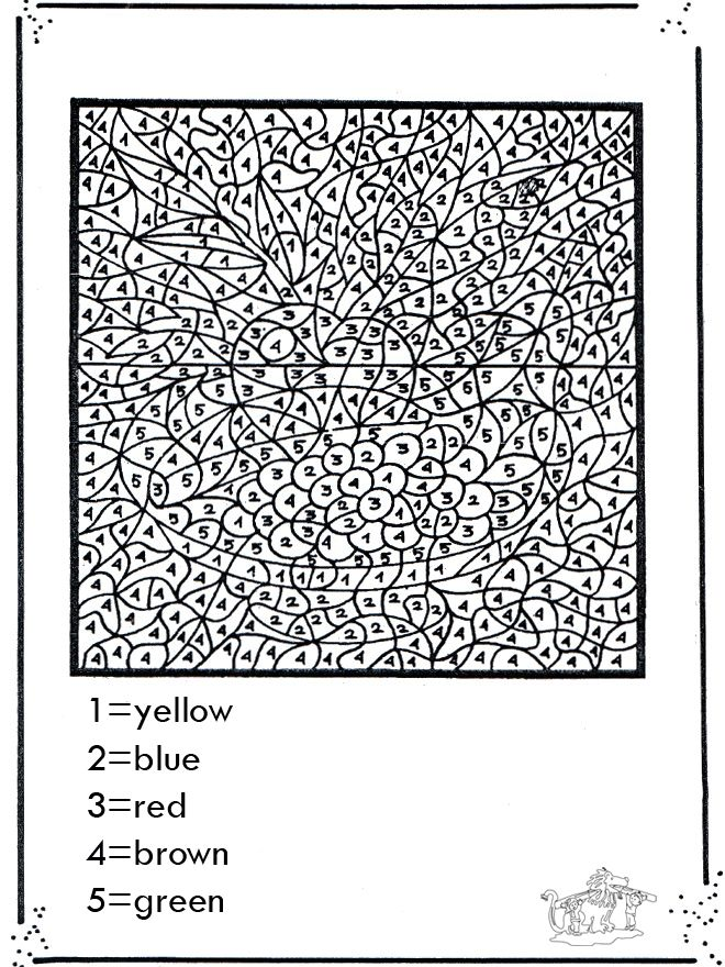 Difficult Color By Number Printable