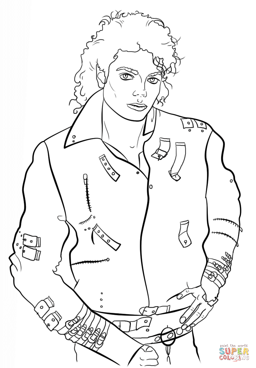 Printable Michael Jackson Coloring Pages Home