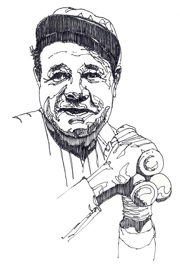 Babe ruth coloring pages coloring home for Babe ruth coloring pages