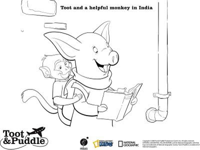 toot and puddles coloring pages - photo#7