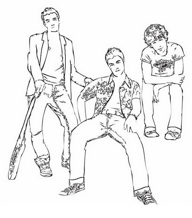 jonas brother coloring pages - photo#22