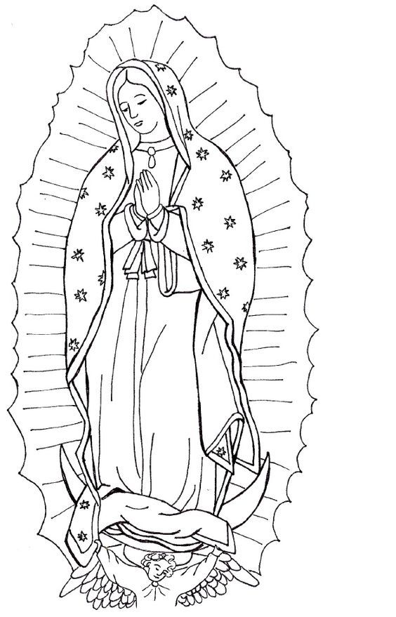 Virgin Mary Coloring Page Coloring Home