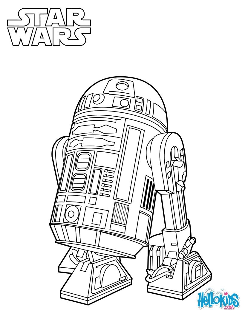 r2d2 coloring pages - photo #10