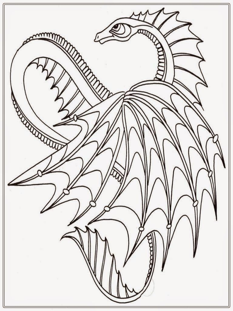 Dragon Adult Coloring Pages - Coloring Home