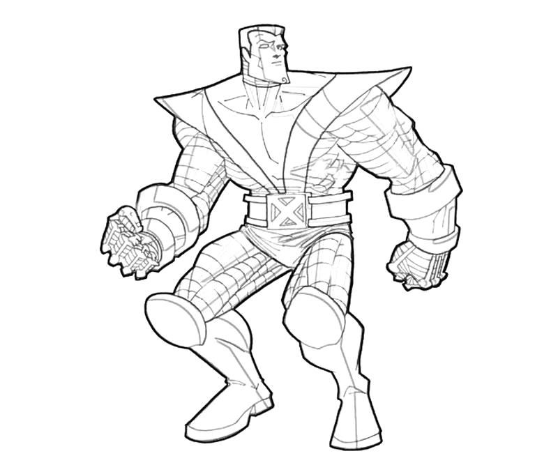 X Men Colossus Coloring Pages