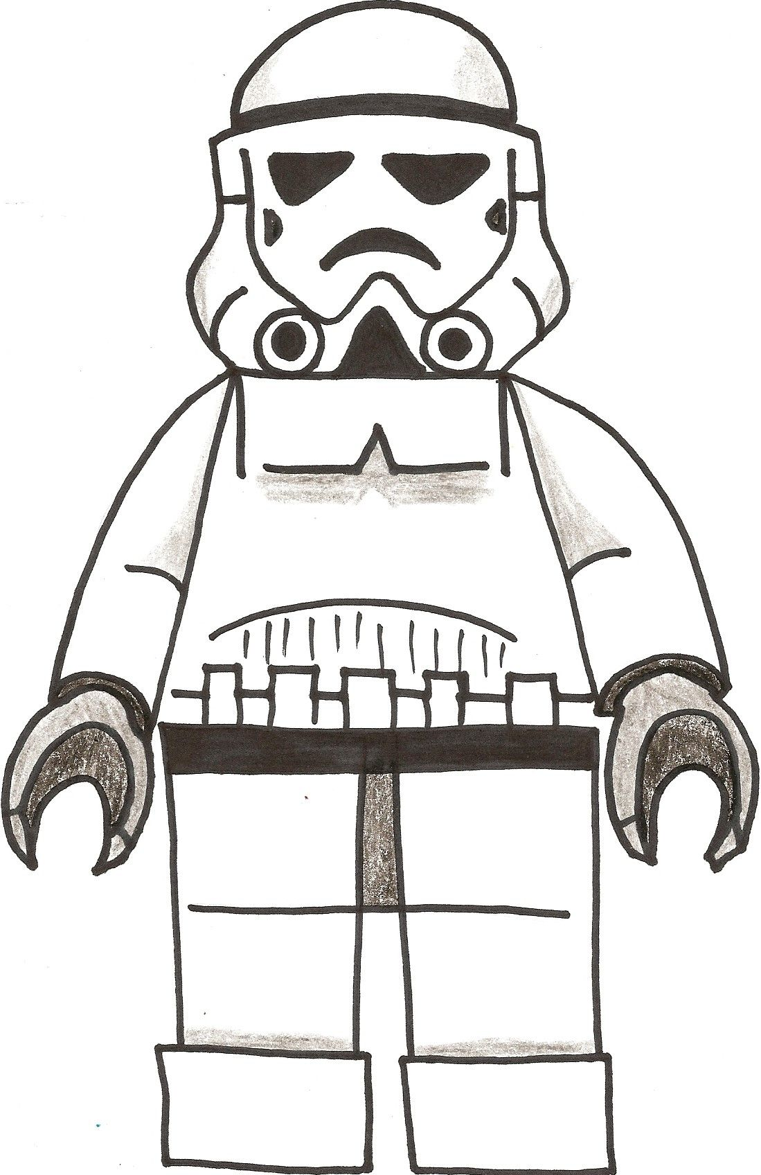 Storm Trooper Printable - Coloring Pages for Kids and for Adults