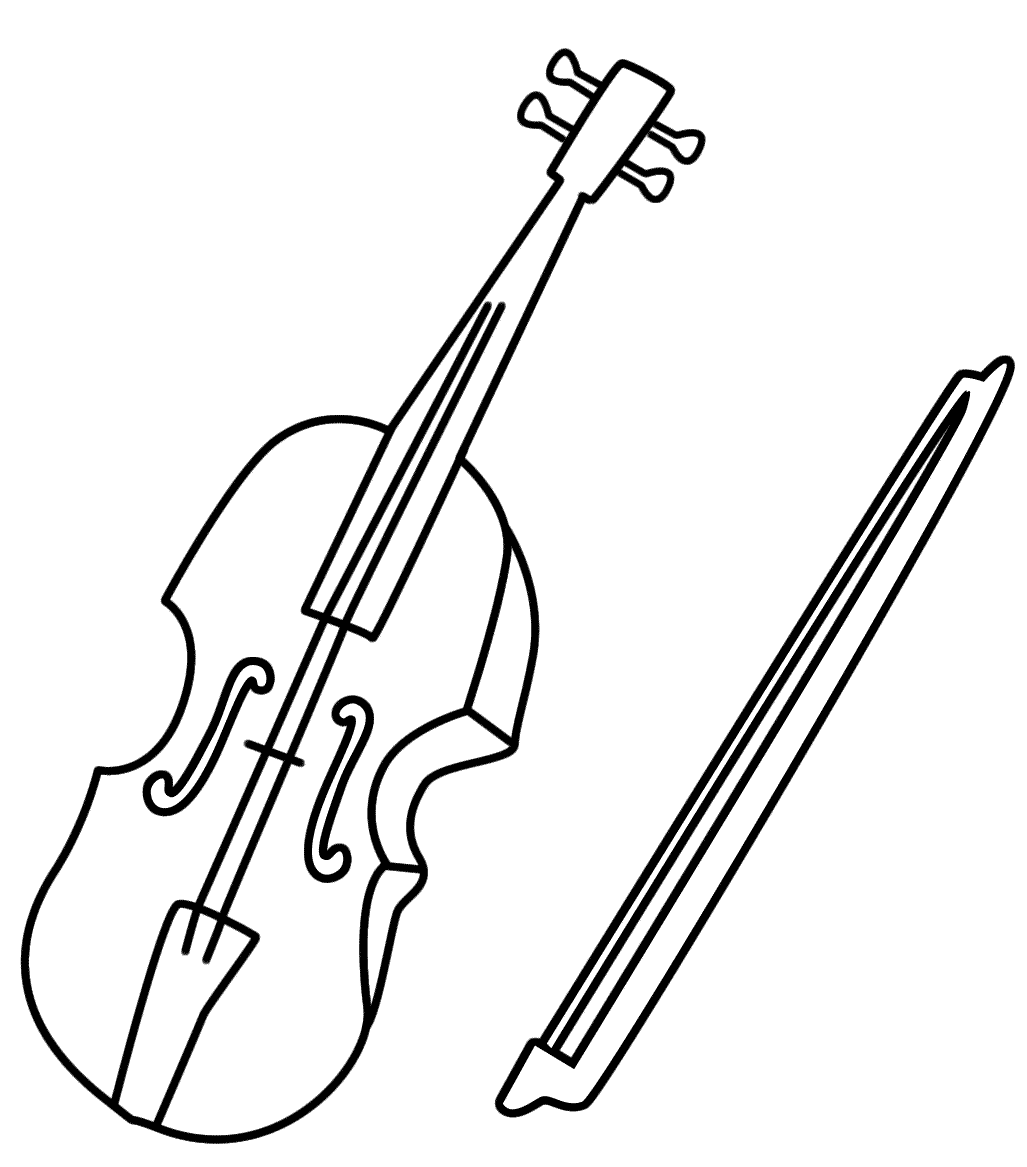 fiddle coloring pages - photo#8