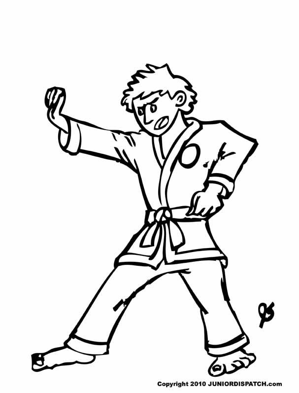 free karate coloring pages - photo#14