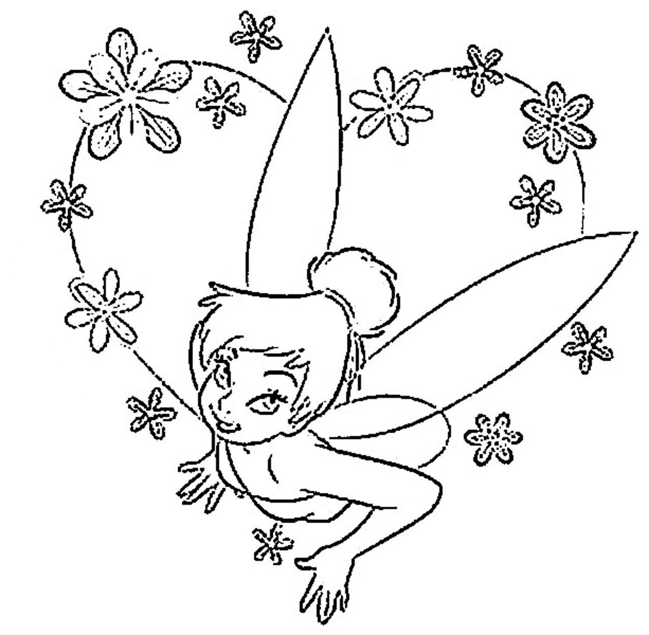 Tinkerbell Halloween Coloring Pages - Coloring Home
