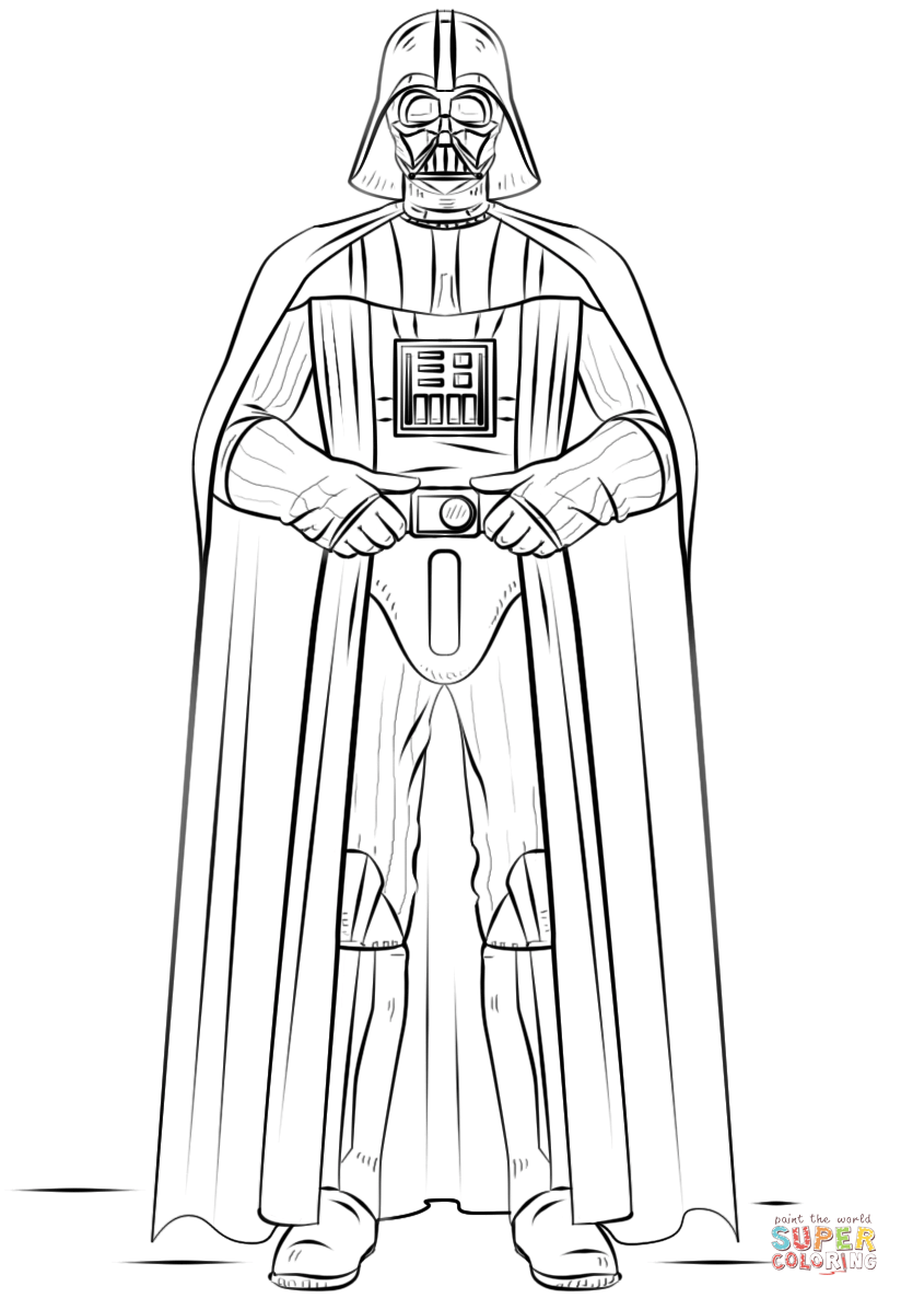 Darth Vader Turkey Coloring Page