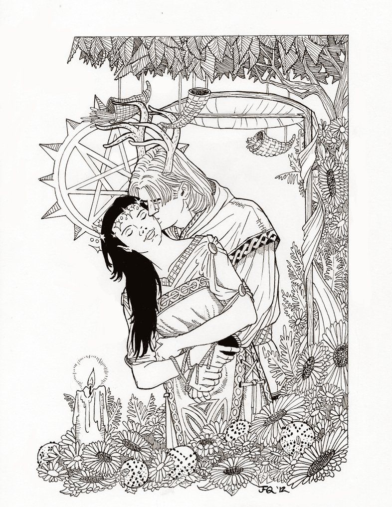 free wiccan coloring pages - photo#1