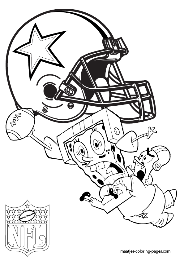 Cowboys Nfl Football Coloring Pages