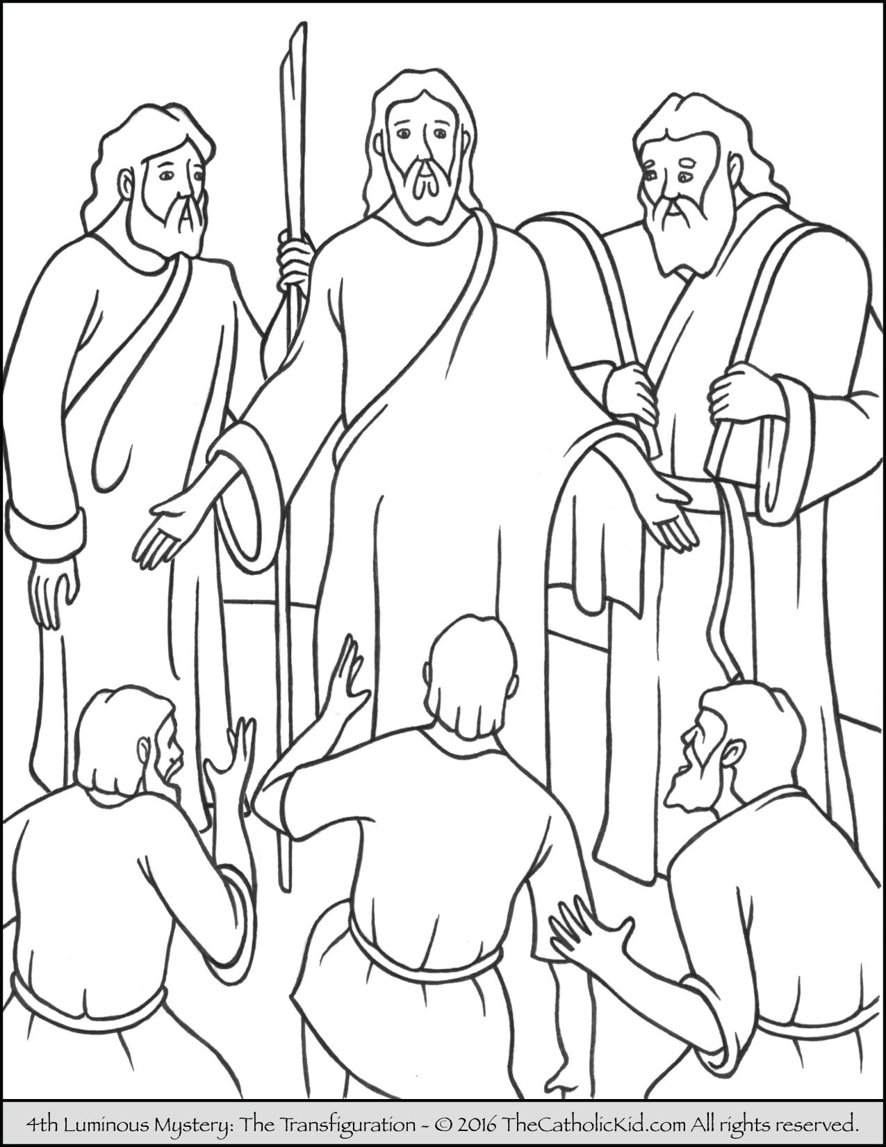 Luminous Mysteries Rosary Coloring Pages - The Catholic Kid ...