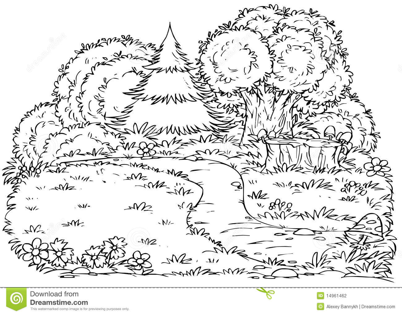 coloring pages of the forest - photo#39
