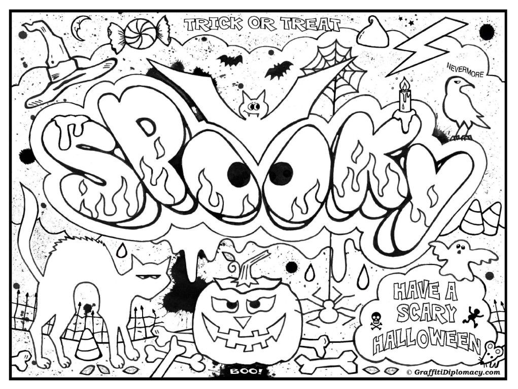 Coloring Pages For Teenagers Graffiti Coloring Home