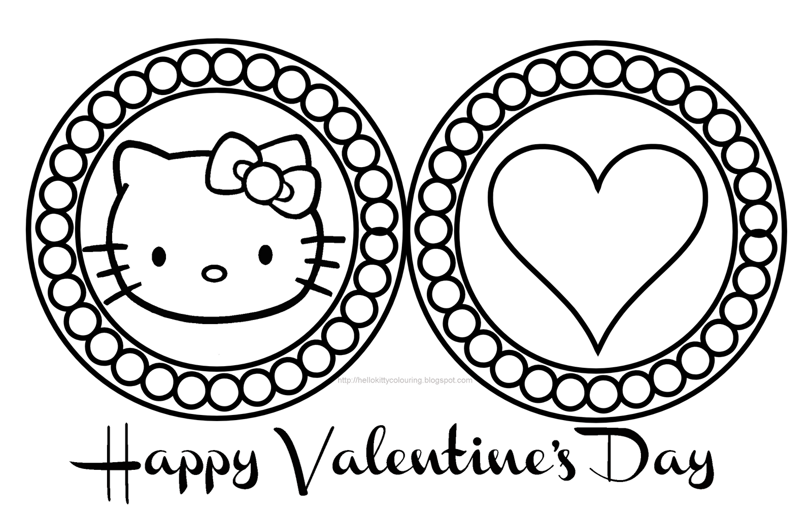 Valentines Day Coloring Pages Hello Kitty : Free hello kitty valentine coloring pages home