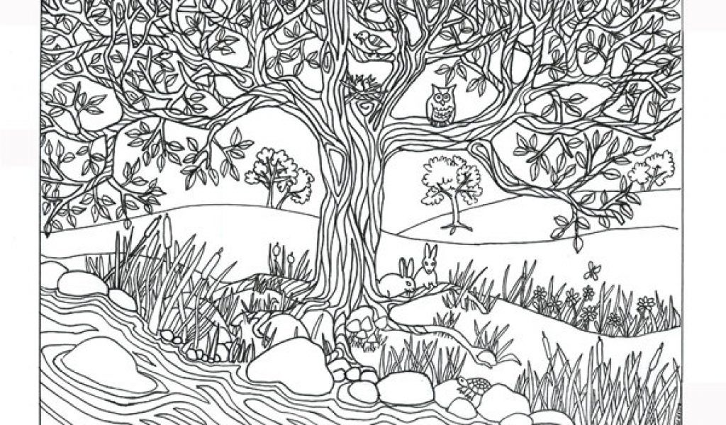 HD Tree Coloring Pages For Adults In Best Coloring Pages Image -  Coloring Home