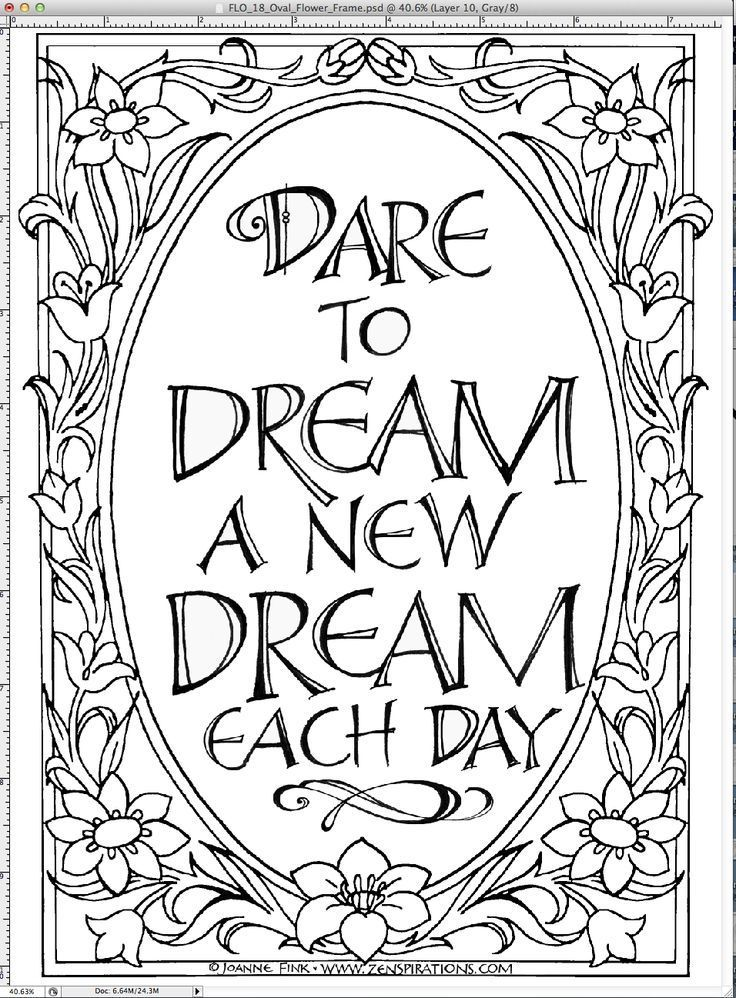 Quote Coloring Pages For Adults