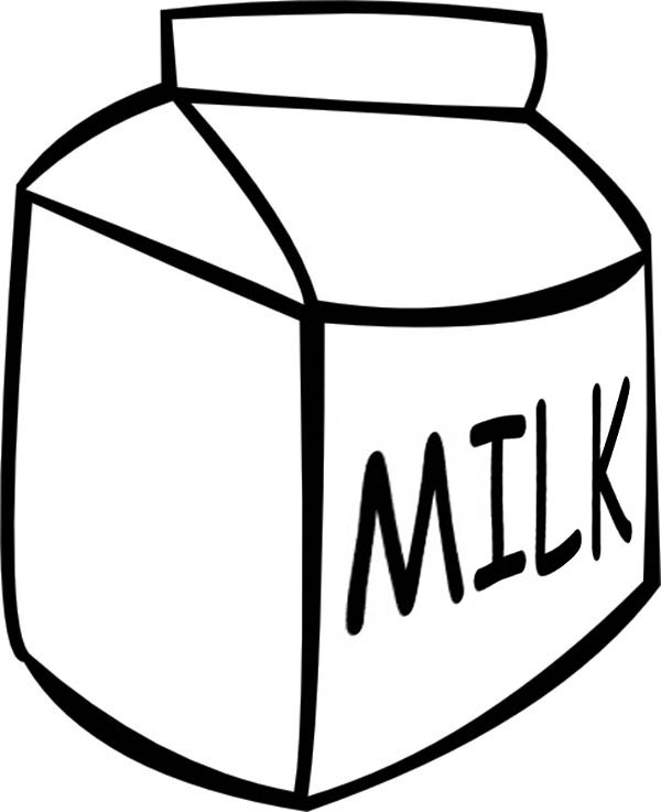 Picture of Milk Carton Coloring Page - NetArt