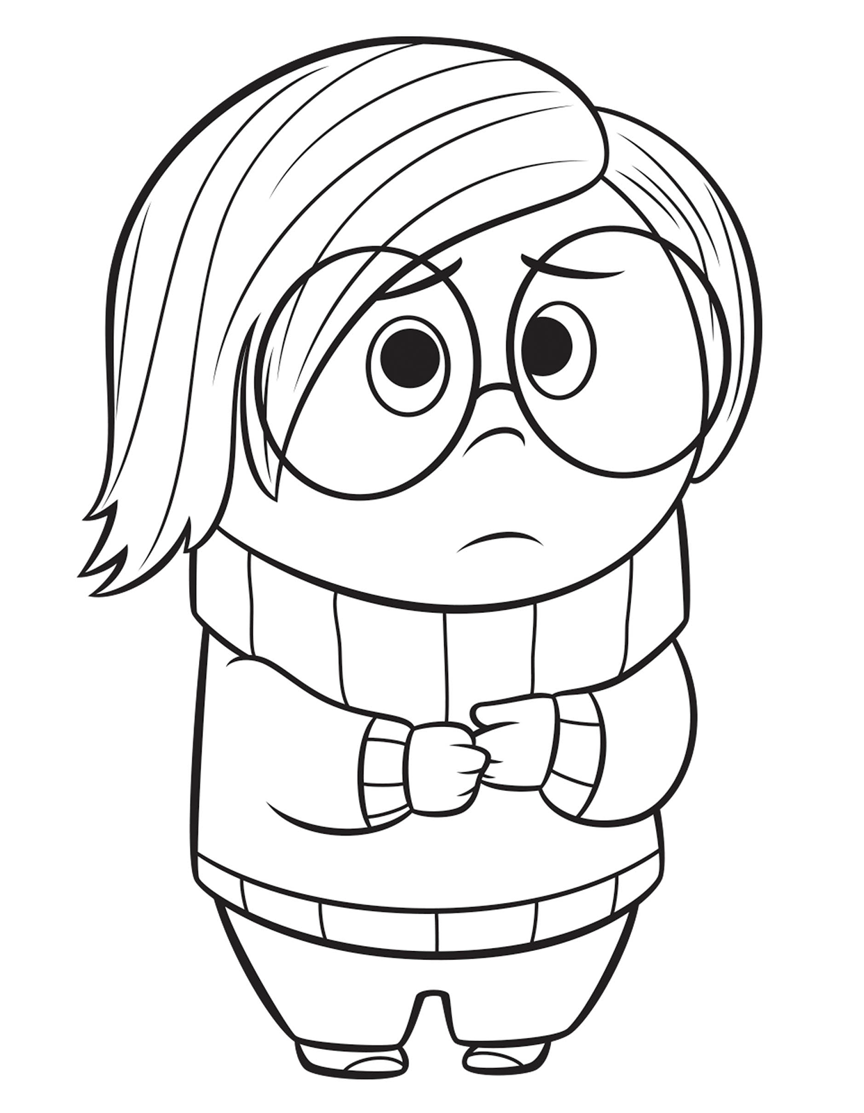 Sadness Coloring Pages Coloring Home