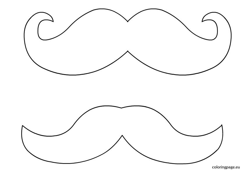 mustache print out template - mustache coloring page coloring home