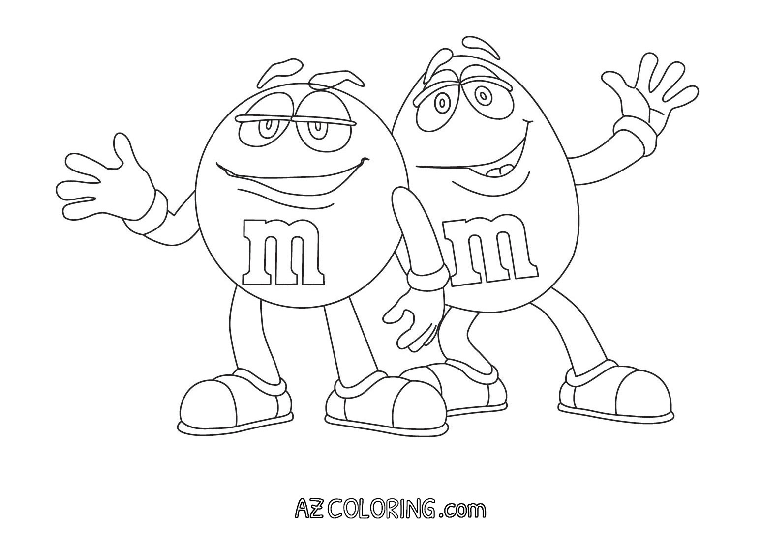 M&m Coloring Pages Simple M&m Coloring Page  Coloring Home