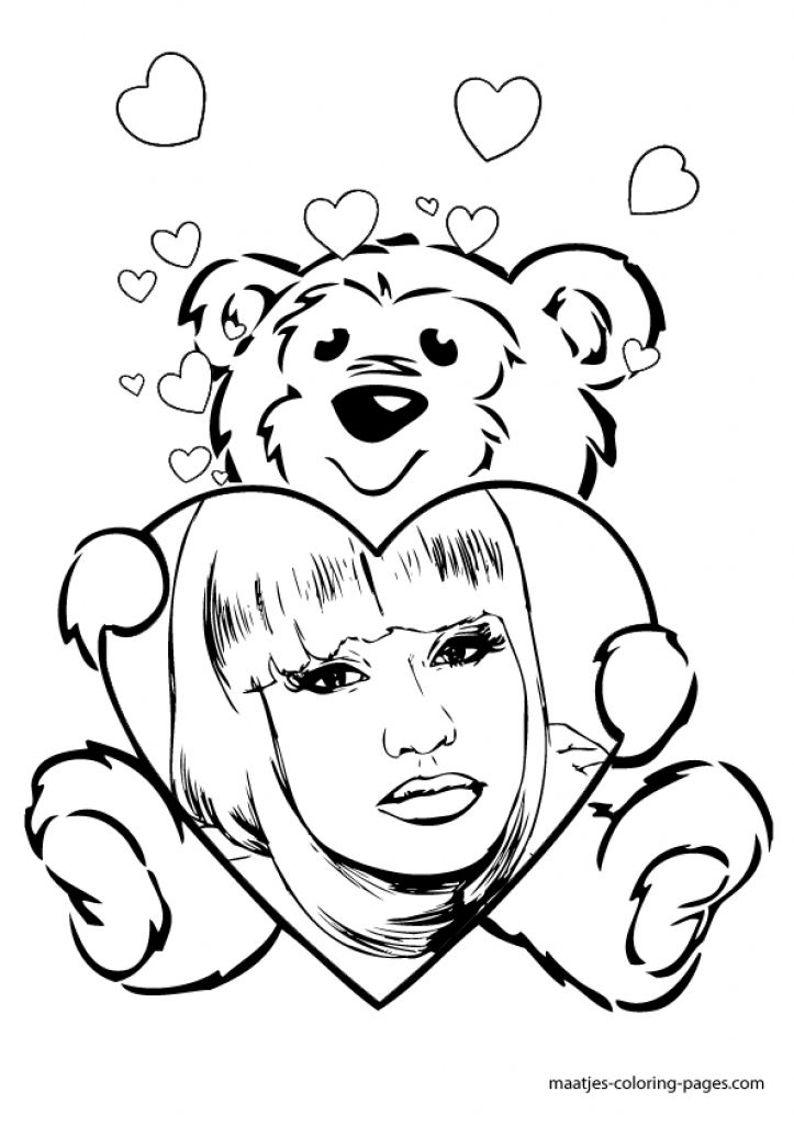 nicki minaj free coloring pages on masivy world