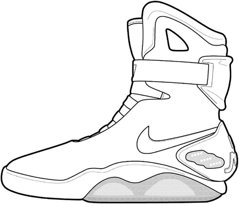 nike air jordan shoes coloring pages sketch coloring page
