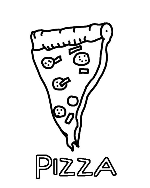 Kids Pizza Coloring Pages Of Food | Foods Coloring pages of ...