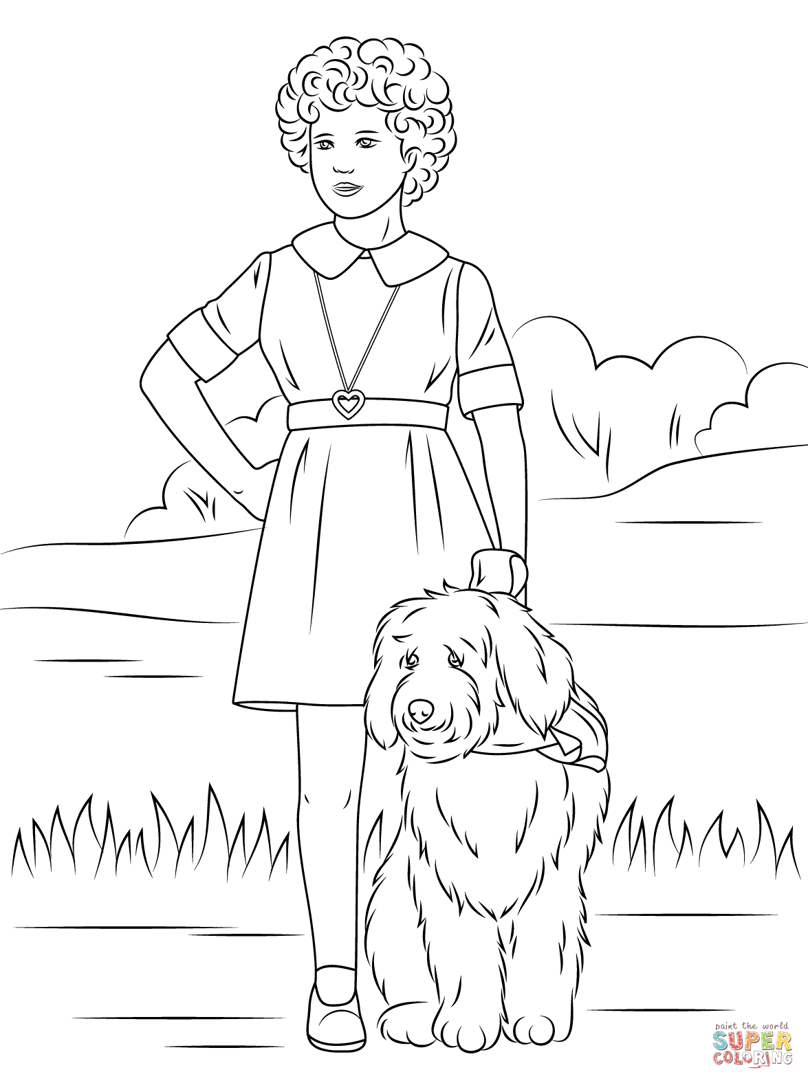 Annie Coloring Pages Printable