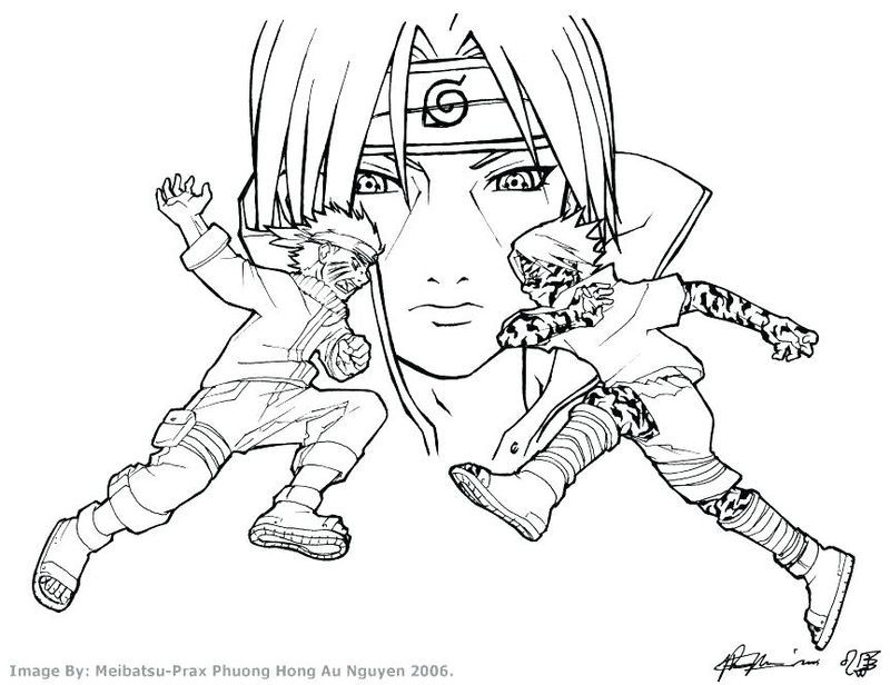 Members Of Akatsuki Coloring Page - Free Printable Coloring Pages ... | 616x800
