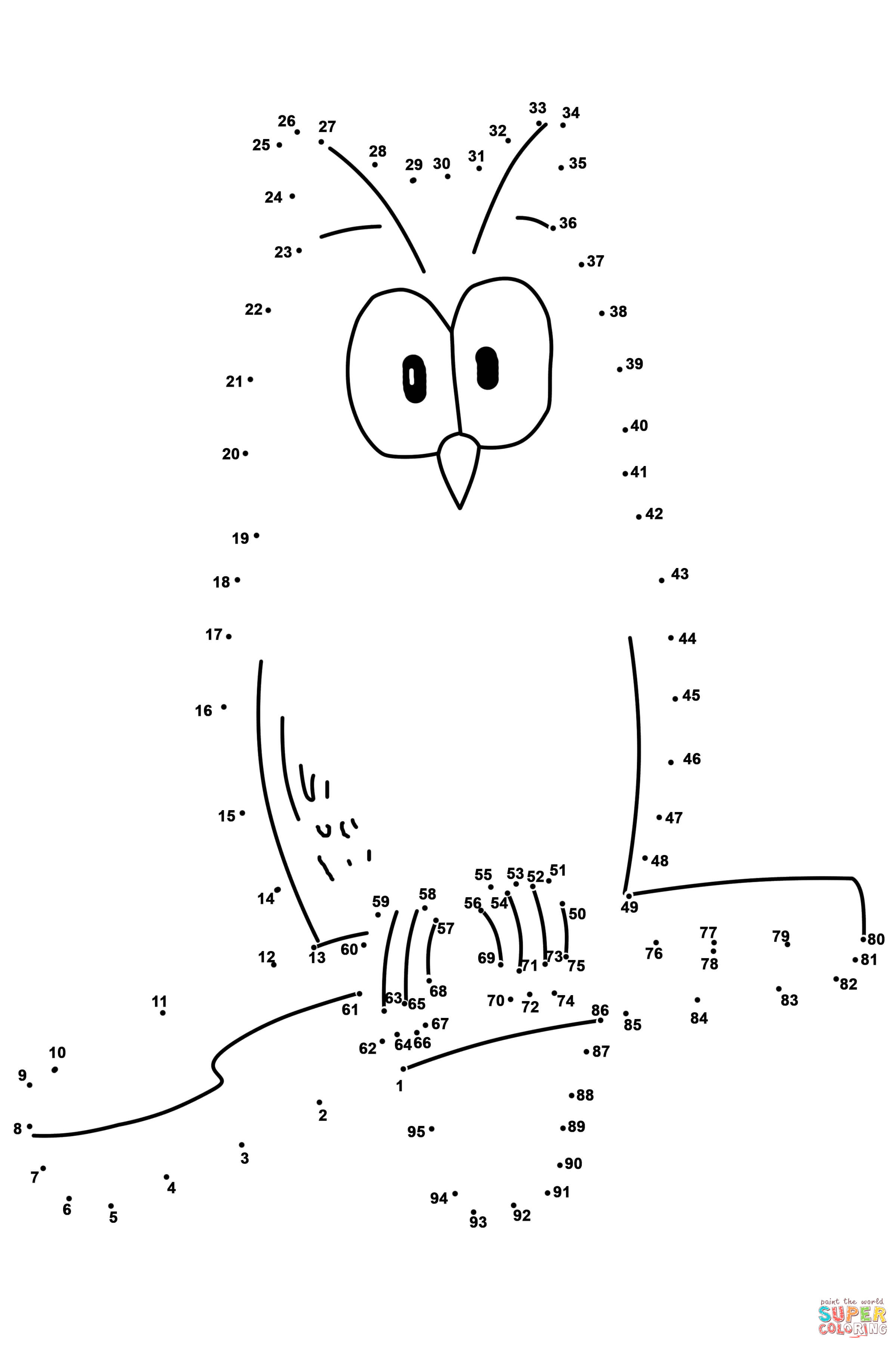 Dot To Dot Coloring Pages 1 100. The Completed Dot To Dot Picture ...