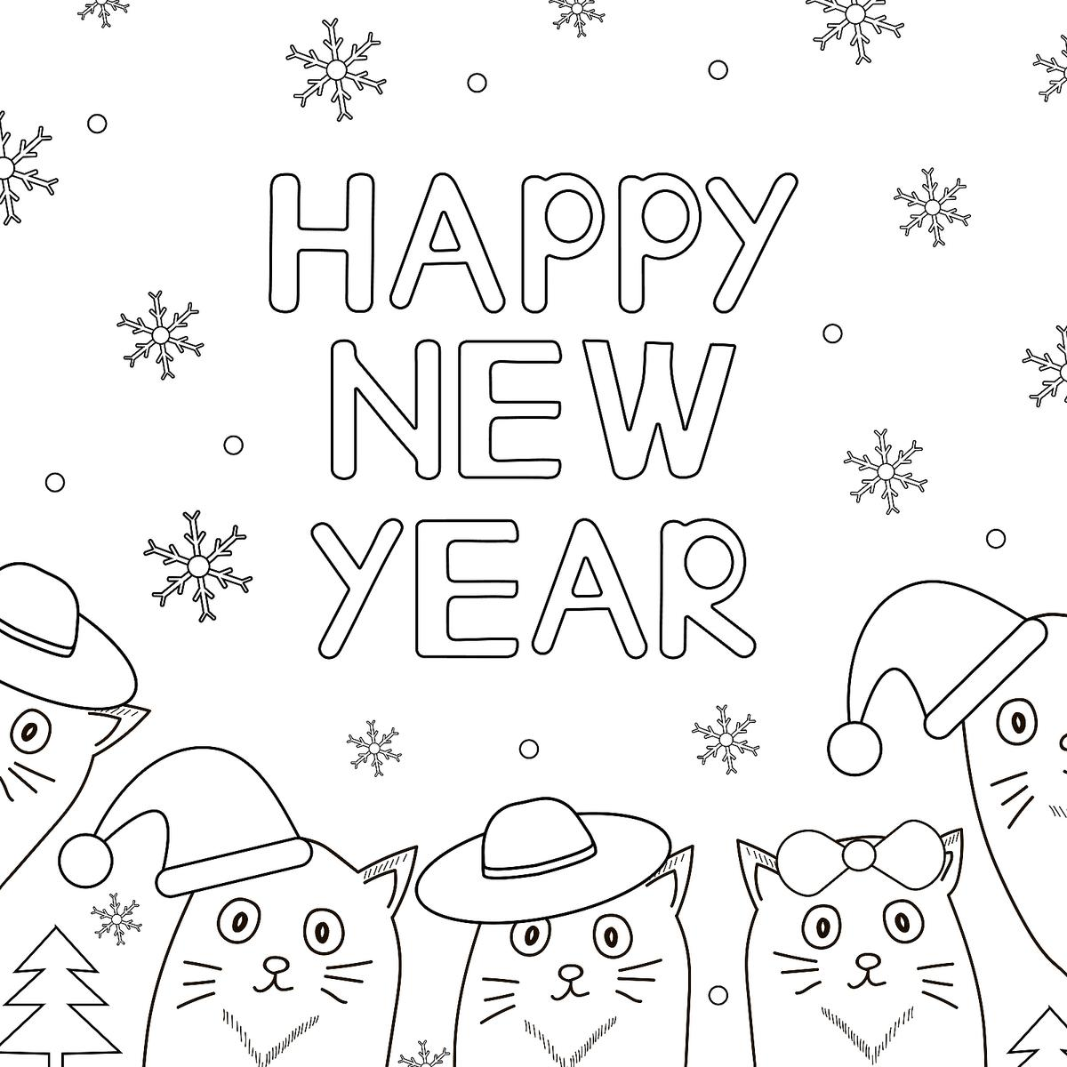New Year January Coloring Pages Printable Fun To Help Coloring Home